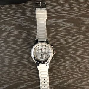 Michele watch white rubber strap